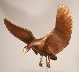 Grote Landende Gans - bronzen beeld