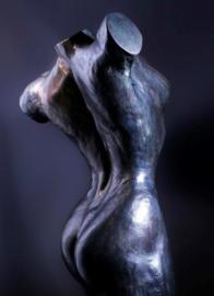Vrouwentorso Panthea - brons - actie