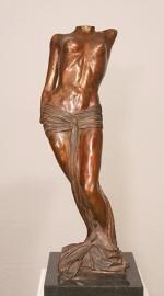 Muze - bronzen beeld