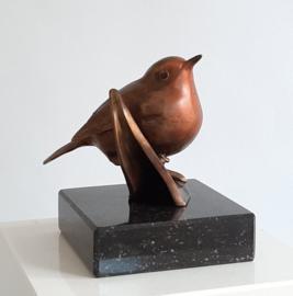 Bronzen beeld 'Lief Roodborstje'