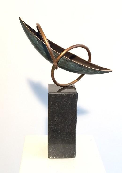 Bronzen beeld boot - Verbondenheid