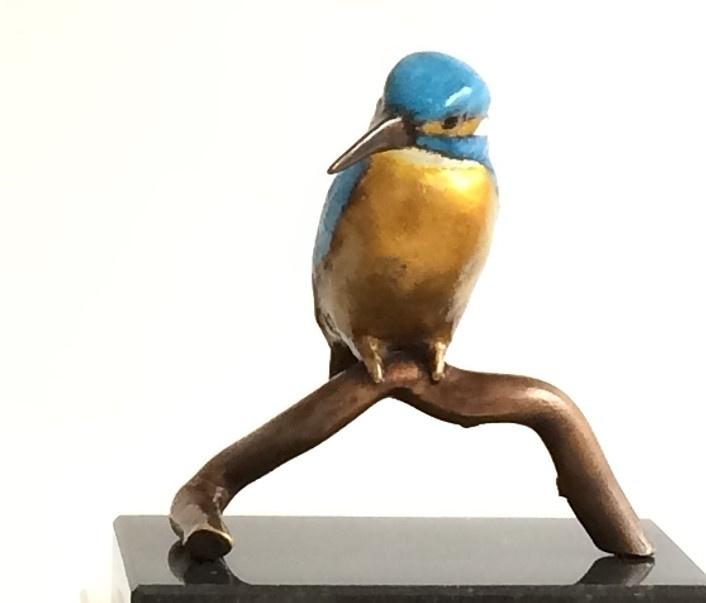 Oplettend IJsvogeltje II op tak