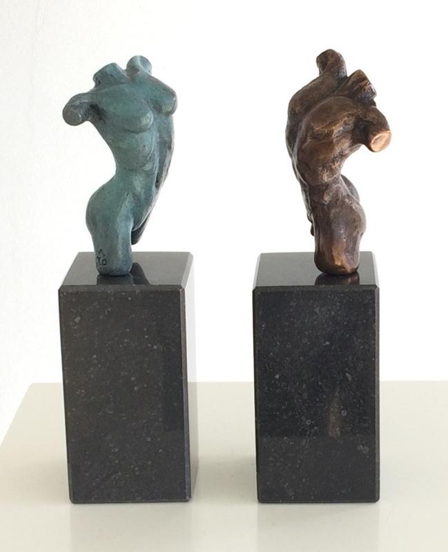 Twee geliefden - bronzen beeld