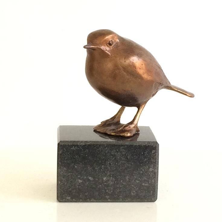 Geliefd roodborstje - brons