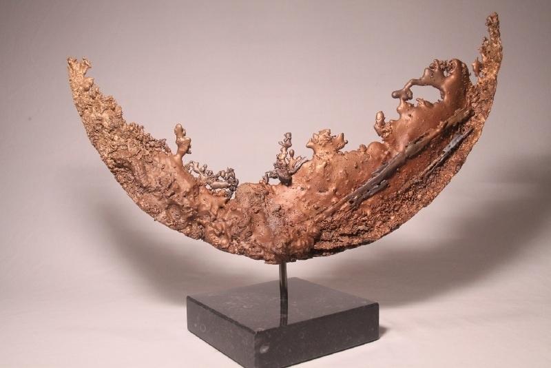 Maanlandschap - bronzen sculptuur