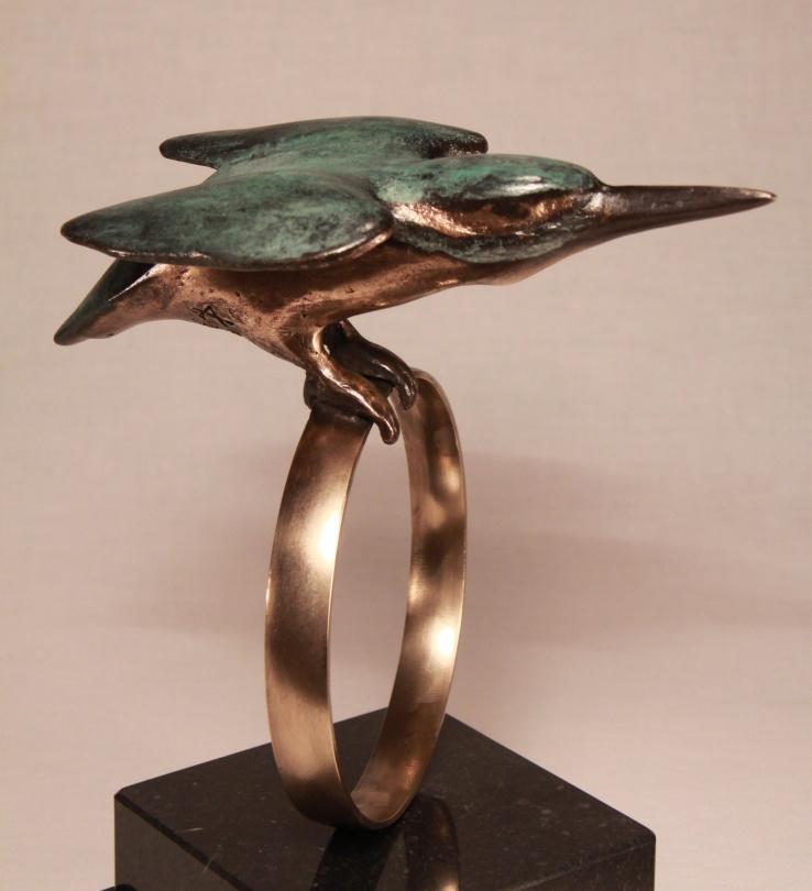 Bronzen beeld voor huwelijk of verloving