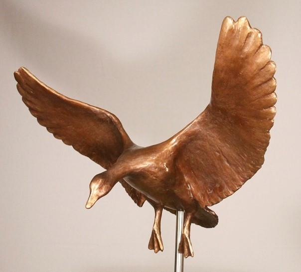 Bronzen beelden trekvogels
