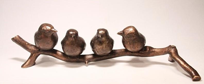 Bronzen beeld - familie, huwelijk, samenwerking