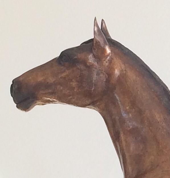 Bronzen beeld paard - prachtig hoofd