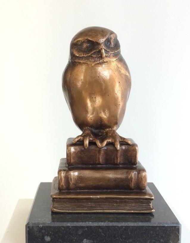 bronzen beeld als relatiegeschenk wetenschap of universiteit