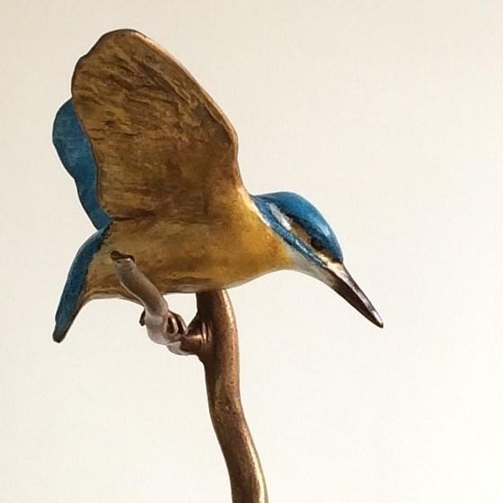 IJsvogel bronzen beeld