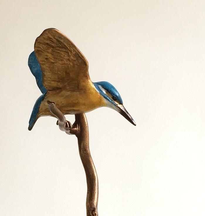 IJsvogel bronzen beeld - mooibrons