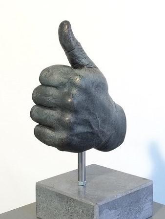 compliment geven / goed werk / bronzen beeld