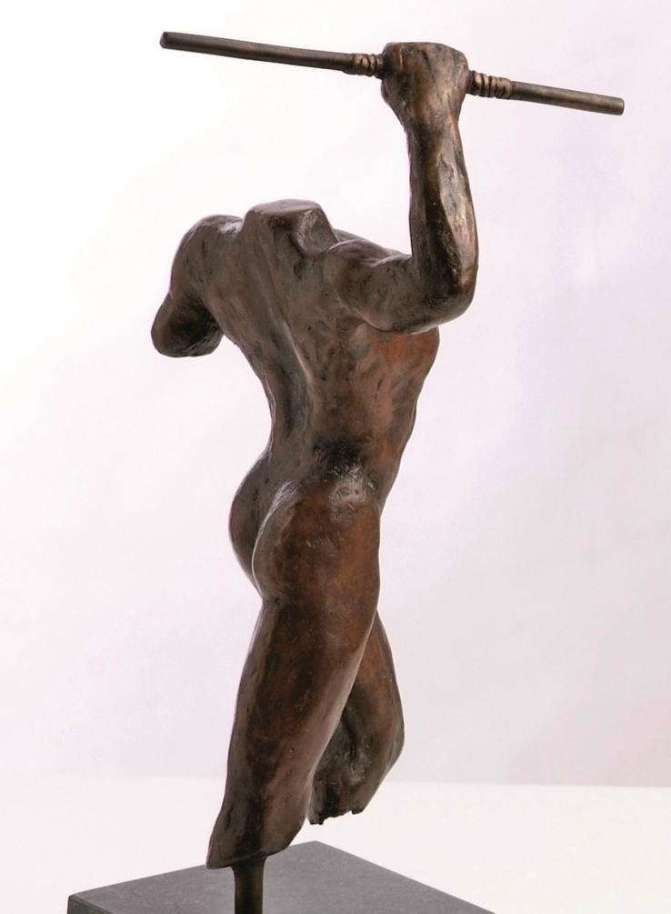 Griekse strijder - relatiegeschenk brons