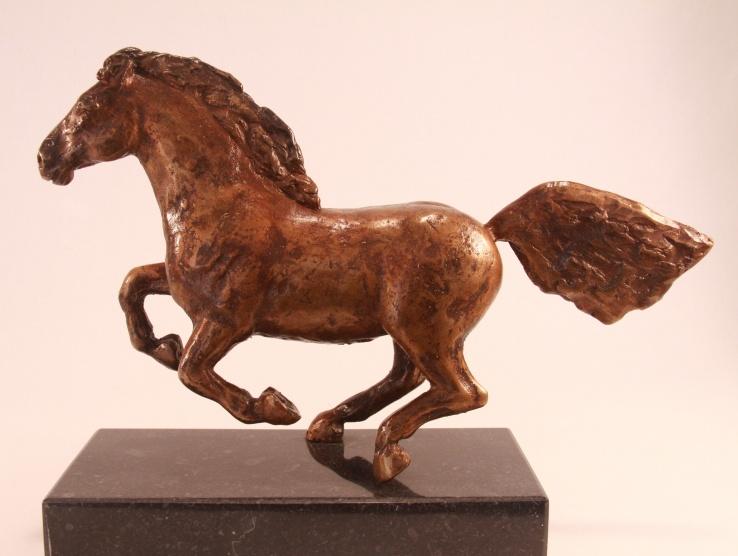 Brons skulpture pferd