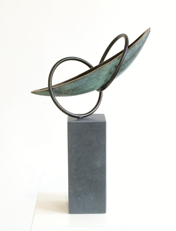 bronzen beeld voor trouwen - huwelijksboot