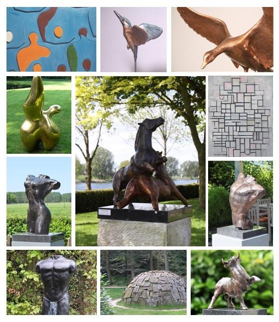 Alle bronzen beelden in de galerie