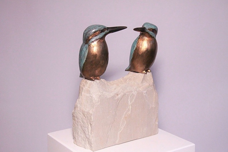 Sculpture bronze together with you