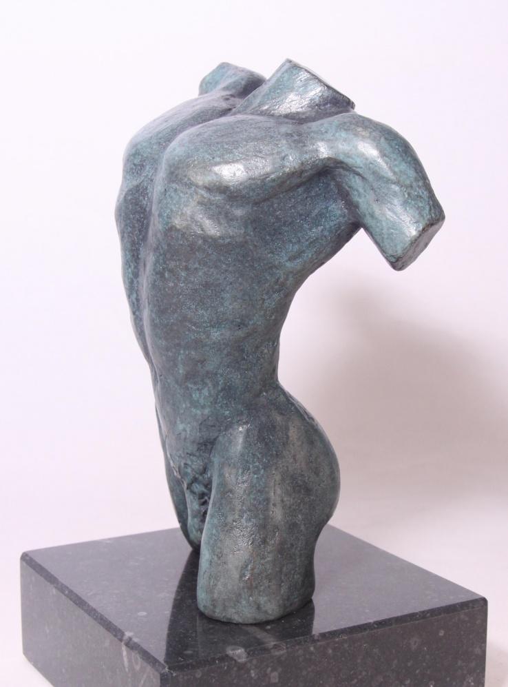 Mannenbeeld van brons - torso Aias