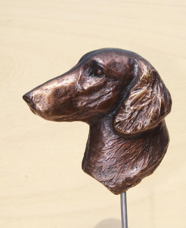 Bronzen beeld hond - bronze sculpture dog