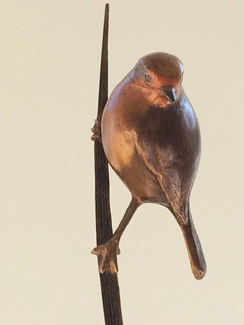 Bronzen beeld voor liefhebber natuur en vogels