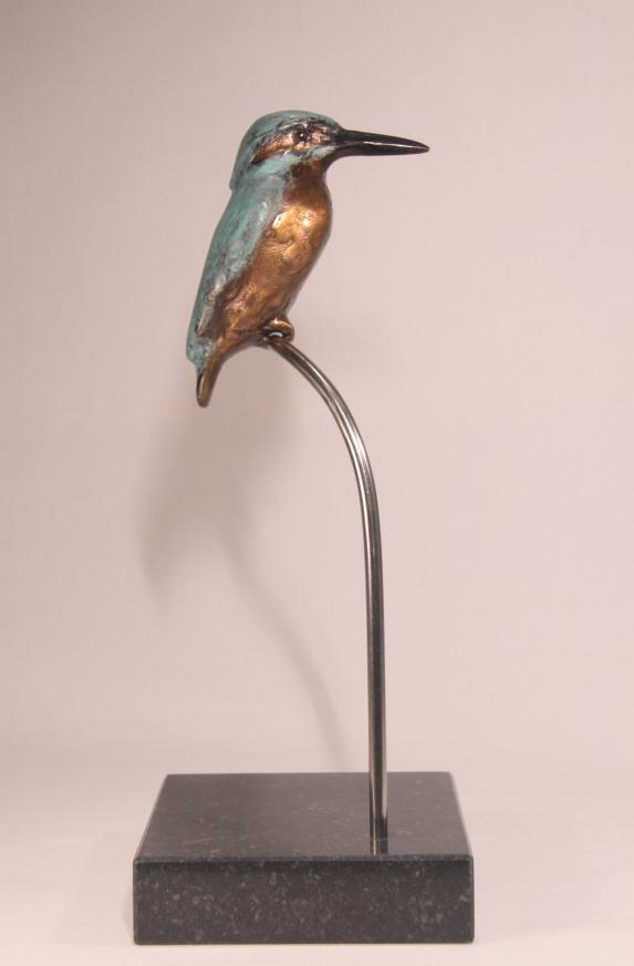 Bronzen beeld cadeau, jubileum of afscheid - ijsvogel