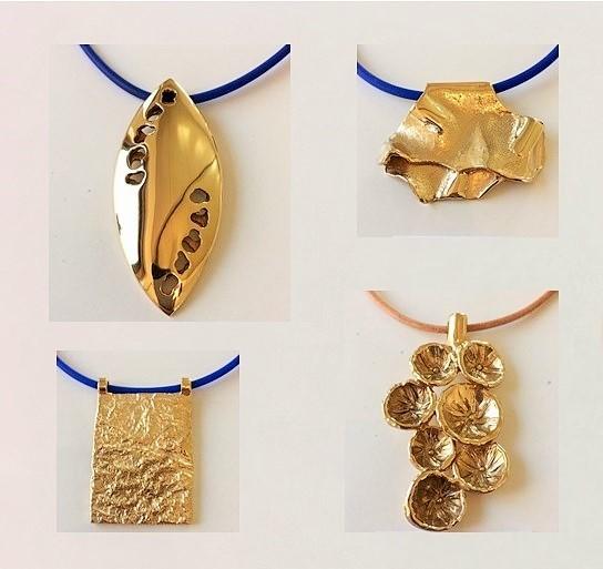 Hangers van 14krt goud verguld brons