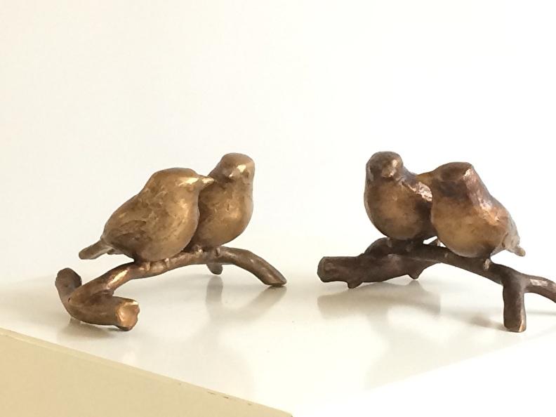 bronzen beelden tuinvogels