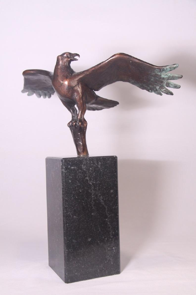 arend op boomtop - bronzen beeld wildlife