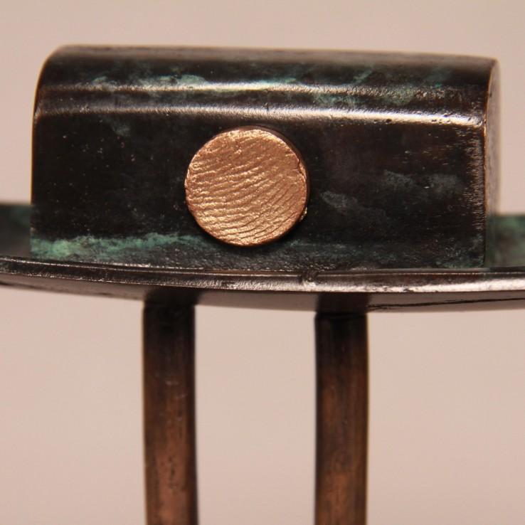 Bootje met vingerafdruk van zilver of brons