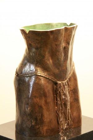 Mannentorso - bronzen beeld
