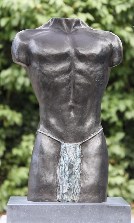 Torso Kallisto - bronzen mannenbeeld