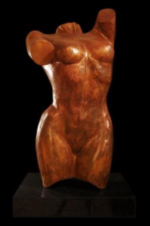 Vrouwenbeeld van brons - Torso Arete