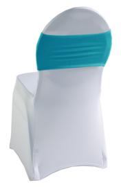 Decoratieband voor rugleuning recht Turquoise
