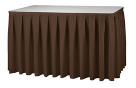 Tafelrok Boxpleat 73 cm hoog bruin