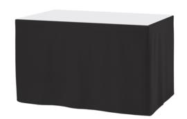 Tafelrok Ongeplooid 73 cm hoog zwart