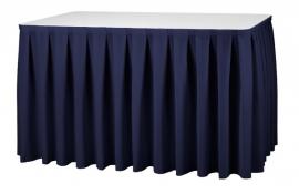 Tafelrok Boxpleat 73 cm hoog navyblauw