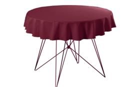 Tafelkleed ø220 cm. Poly Jersey Bordeaux