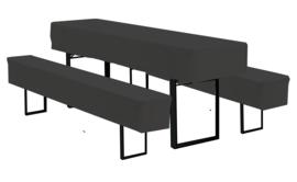 Bankethoezenset Salto Zwart 220 x 50 cm