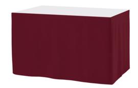 Tafelrok Ongeplooid 73 cm hoog bordeaux