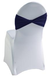 Decoratieband voor rugleuning gedraaid Navyblauw