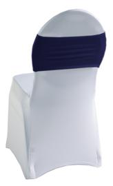 Decoratieband voor rugleuning recht Navyblauw