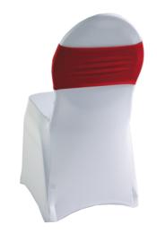 Decoratieband voor rugleuning recht Rood