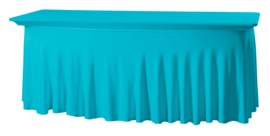 Tafelhoes Grandeur 183 x 76 cm Turquoise