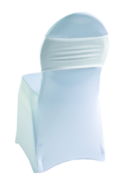 Decoratieband voor rugleuning recht Wit