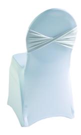 Decoratieband voor rugleuning gedraaid Wit