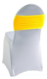 Decoratieband voor rugleuning recht Geel
