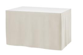 Tafelrok Ongeplooid 73 cm hoog wit