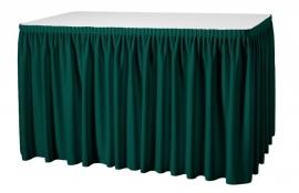 Tafelrok Plissé 73 cm hoog groen