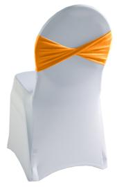 Decoratieband voor rugleuning gedraaid Oranje
